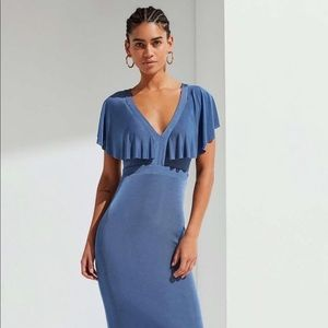 Urban Outfitters Ruffle Sleeve Maxi Dress
